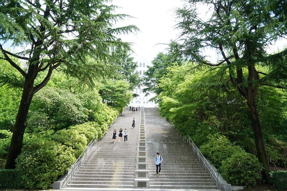 Stairs of the university Guanzhou in Korea