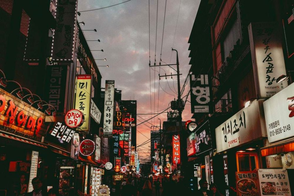 Night streets of Korea