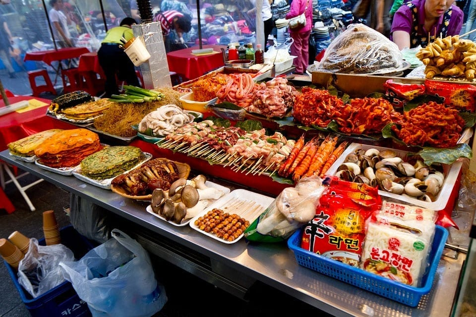 Local food in Korea markets